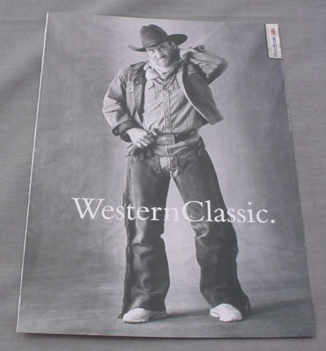 Magazine Ad for Reebok Sneakers, 2001, Cowboy, Western Classic