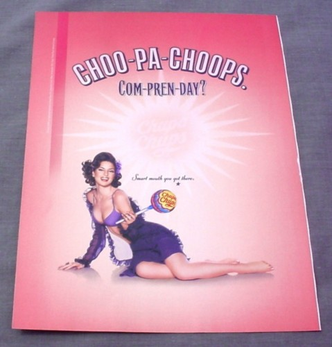 Magazine Ad for Chupa Chups Suckers 2001 Sexy Woman Choo-Pa Choops