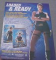 Magazine Ad for Tomb Raider Movie on DVD & VHS, 2001, Angelina Jolie
