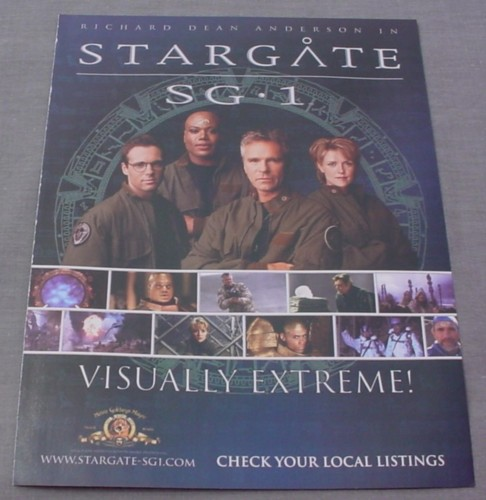 Magazine Ad for Stargate SG1 TV Show, 2001, Richard Dean Anderson,
