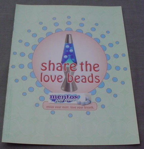 Magazine Ad for Mentos Cool Chews, 2001, Lava Lamp, Share the Love Beads
