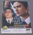 Magazine Ad for A Few Good men Movie on TV, 2001 Tom Cruise Demi Moore