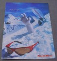 Magazine Ad for Bolle Sunglasses 2001 Frozen Hand Avalanche Tougher Than You