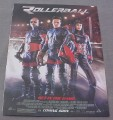 Magazine Ad for Rollerball Movie, 2002, LL Cool J, Rebecca Romijn Stamos