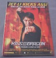 Magazine Ad for Kiss Of The Dragon Movie on DVD, 2002, Jet Li Kicks Ass