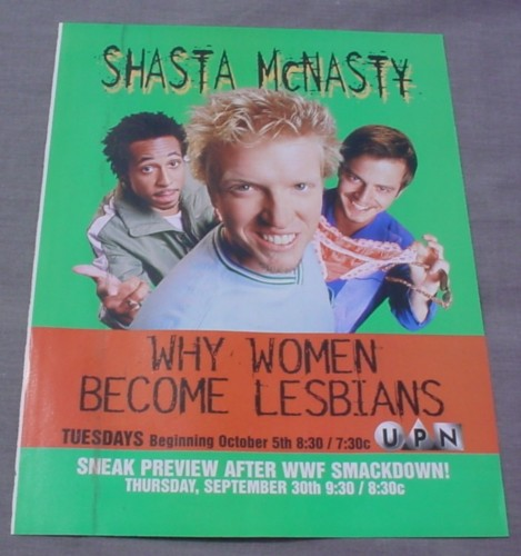 Magazine Ad for Shasta McNasty TV Show 1999 Why Women Become Lesbians