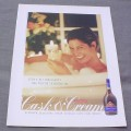 Magazine Ad for Cask & Cream Liqueur, 1998, Woman in Bathtub