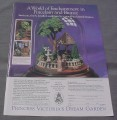 Magazine Ad for Princess Victoria's Dream Garden, Franklin Mint, 1991