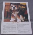 Magazine Ad for Lenox The Beagle Puppy Sculpture, 1991