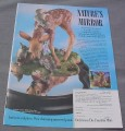 Magazine Ad for Nature's Mirror Sculpture, Franklin Mint, 1989