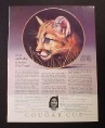 Magazine Ad for Cougar Cub Plate, Princeton Gallery, 1990