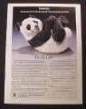 Magazine Ad for Panda Cub Sculpture, Lenox Collections, 1990