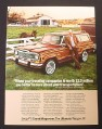 Magazine Ad for Jeep Grand Wagoneer, Quarter Horse Ranch, 1984