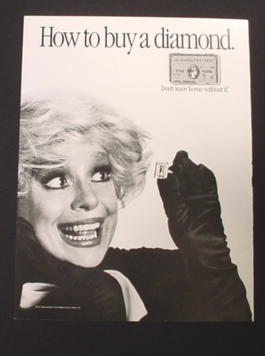 Magazine Ad for American Express, Carol Channing Celebrity Endorsement