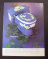 Magazine Ad for Sherle Wagner, Lilly Design Painted Toilet, 1985