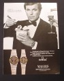 Magazine Ad for Omega Manhattan Watch, Robert Wagner Celebrity Endorsement