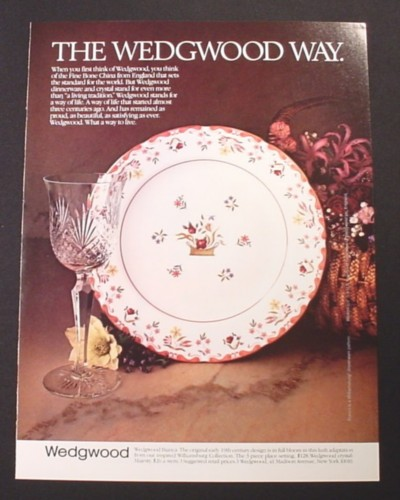 Magazine Ad for Wedgwood Bianca Pattern Plate Dinnerware 1983 & Magazine Ad for Wedgwood Bianca Pattern Plate Dinnerware 1983 ...