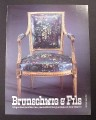 Magazine Ad for Brunschwig & Fils Upholstered Chair, Flower Pattern, 1985