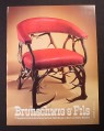 Magazine Ad for Brunschwig & Fils Chair, Antler Legs, 1985