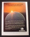 Magazine Ad for Eastern Airlines, Walt Disney World, Sun Rising over Epcot, 1985