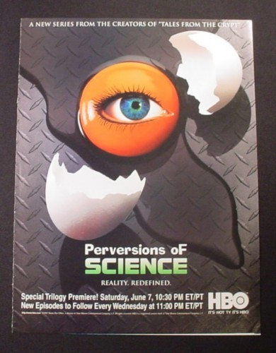 Magazine Ad for Perversions Of Science, TV Show, HBO, 1997