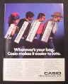 Magazine Ad for Casio Polyphonic Keyboard, 4 Models, PT-80 MT-35 MT-46 MT-68