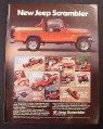 Magazine Ad for Jeep Scrambler 4-Wheeler, American Motors, 1981