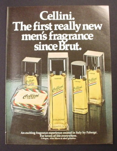 Magazine Ad for Cellini Men's Fragrances by Faberge, 1981