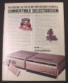 Magazine Ad for RCA Selectavision Video Recorder, Electronics, 1981
