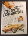 Magazine Ad for Datsun 200-SX, Step On The Exhilarator, 1981
