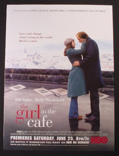 Magazine Ad for The Girl In The Cafe HBO TV Movie, 2005