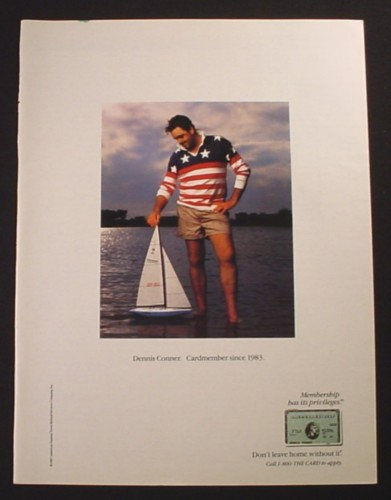 Magazine Ad for American Express, Dennis Conner Cardmember, 1987