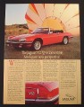 Magazine Ad for Jaguar V-12 XJ-S Convertible Car, Hot Air Balloons, 1988