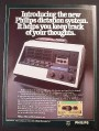 Magazine Ad for Philips 300 Series Desk Dictation System, 1978