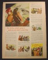 Magazine Ad for Borden's Milk, Elsie The Cow, Aquarium, 1944