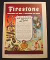 Magazine Ad for Firestone, Producing for War, Producing for Peace, 1944