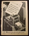 Magazine Ad for Mimeograph Duplicator, 1944