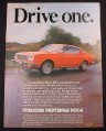 Magazine Ad for Mazda Rotary RX-4 Car, Drive One, 1975
