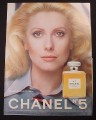 Magazine Ad for Chanel No. 5 Perfume, Catherine Deneuve Celebrity Endorsement