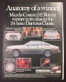 Magazine Ad for Mazda Cosmo 2+2 Rotary Car, Daytona Classic Winner, 1976
