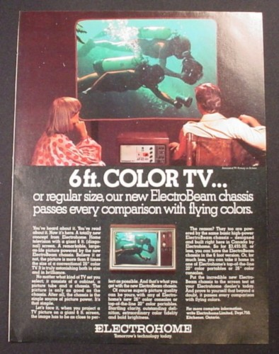 Magazine Ad For Electrohome 6 Foot Electrobeam Color Tv 1976 Magazines Ads And Books Store