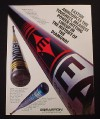 Magazine Ad for Easton Baseball Bat, BX90-C BE40T LX18, 1995