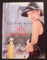 Magazine Ad for Elizabeth Arden 5th Avenue Perfume, Woman in Black Hat, 1998
