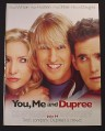 Magazine Ad for You, Me and Dupree Movie, Owen Wilson, Kate Hudson, Matt Dillon