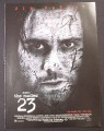 Magazine Ad for The Number 23, Jim Carrey, 2007