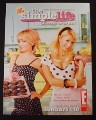 Magazine Ad for The Simple Life TV Show, Paris Hilton, Nicole Richie, 2006