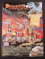 Magazine Ad for Mega Bloks Dragon Krystal Wars Toys, Draigar Castle #9898, 2003