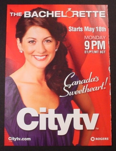 Magazine Ad for The Bachelorette TV Show, Canada's Sweetheart, 2009