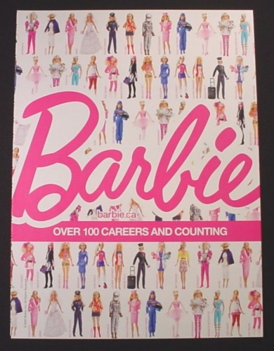 Magazine Ad for Barbie Dolls Toys, Over 100 Careers & Counting, 2009