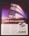 Magazine Ad for Casio Calculators, 3 Models FX-451 FX-115 FX-250, 1985